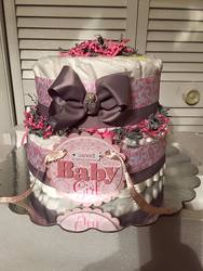 Girl Diaper Cake from Verzaal's Florist & Events in Wilmington