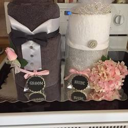 Bridal Towel Cake from Verzaal's Florist & Events in Wilmington
