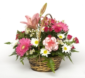 Perfectly Pink Basket from Verzaal's Florist & Events in Wilmington