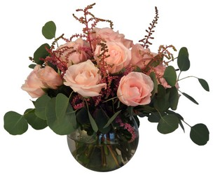 Sliver rose bowl from Verzaal's Florist & Events in Wilmington