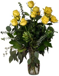 Dozen Yellow Roses Vased from Verzaal's Florist & Events in Wilmington