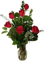 Half Dozen Roses Vased from Verzaal's Florist & Events in Wilmington