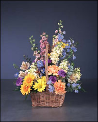 basket of pastels from Verzaal's Florist & Events in Wilmington