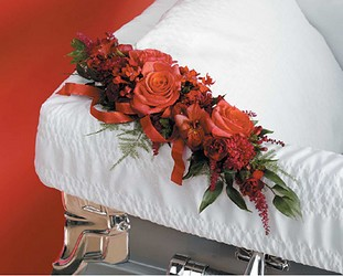 casket corsage from Verzaal's Florist & Events in Wilmington