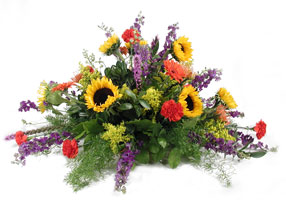 Mixed Garden Casket Saddle from Verzaal's Florist & Events in Wilmington